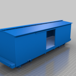 Assembly_1.png Download free STL file F-scale D&RGW 25 Ft Boxcar (1:20.3) • 3D print model, trotfox