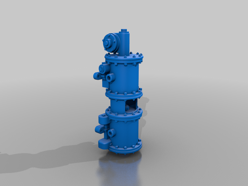 "Part_Studio_1_1.png Download free STL file Westinghouse 11"" steam powered air pump • Object to 3D print, trotfox"