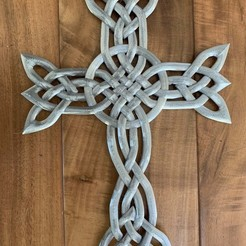 Overlapping Square Cross v2.jpg Download free STL file Intertwined Cross  • 3D printer template, ad_carrillo