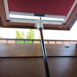 IMG_1447.JPG Download free STL file Top for telescopic pole to open skylight (dormer window) / Aufsatz für Teleskopstange um Dachfenster zu öffnen • Template to 3D print, taoros