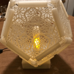 Dodecahedron_Flame-Animation.png Download free STL file Dodecahedron Lamp - with Animated Flame • 3D printing design, rlgjr
