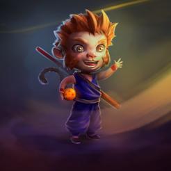 son_goku__by_victorgc_dibujando_ddu5n6t-fullview.png Télécharger fichier STL Son Goku Sun Wukong • Design à imprimer en 3D, viktorgc