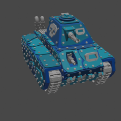 Complete.png Download free STL file Puny little looted tank (Version A) • 3D printing design, zukasa