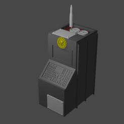 Consolve_v2_Render.png Télécharger fichier STL gratuit Console de base v2 - Warhammer 40k Marqueur d'objectif / Prop • Modèle imprimable en 3D, zukasa