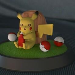 Pikachu_001.17.jpg Download STL file Pikachu Ketchup • 3D print design, epicpiratescollectibles