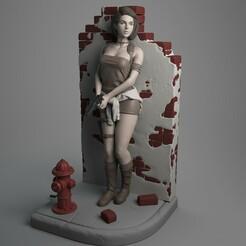 Jill_01_1.jpg Download STL file Jill Valentine • 3D printer model, epicpiratescollectibles