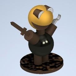 imagenene.jpg Download STL file little friend pirate • 3D print object, emilianobolanos