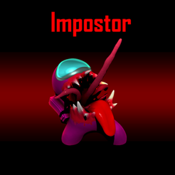demo.png Download STL file Among us Hd monster impostor • Object to 3D print, forgeeks