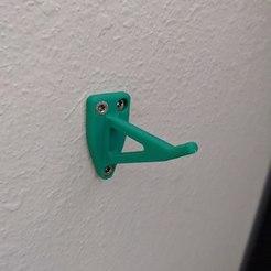 PXL_20201010_172322951.jpg Download 3MF file Simple Wall Hook • 3D printable model, bageler