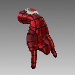 ender0.jpg Download STL file Creality Ender 3 Spiderman Web Shooter Hand Filament Guide • 3D printer object, pandoranium3d