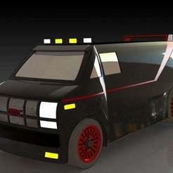 1.JPG Download free STL file GMC Vandura (A Team Van) • Template to 3D print, pabloblgarcia