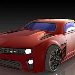 1.JPG Download free STL file Chevrolet Camaro • 3D printing design, pabloblgarcia