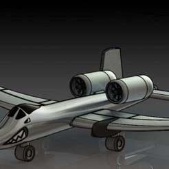 2.JPG Download free STL file A-10 Warthog • 3D printer template, pabloblgarcia