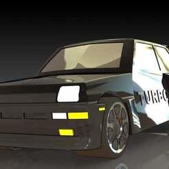 1.JPG Download free STL file Renault 5 Turbo • 3D printing template, pabloblgarcia