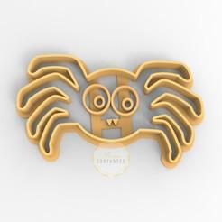 araña.jpg Télécharger fichier STL L'araignée coupe-biscuits Halloween • Design pour impression 3D, mimacortantes