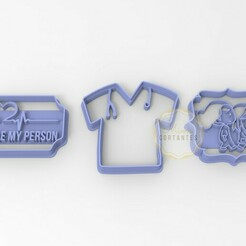 GREYS.jpg Download STL file Greys Anatomy Cookie Cutters • 3D print object, mimacortantes