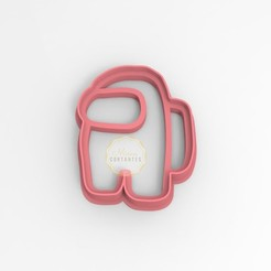 AMONG.jpg Download STL file Cookie Cutter Among Us • 3D printing design, mimacortantes