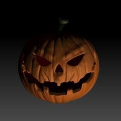Pumpkin .jpg Download STL file Hallowen Pumpkin • 3D printable object, azmalhossain