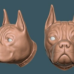 07.jpg Download STL file Dog Head keychain • 3D print model, azmalhossain