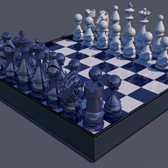 1.jpg Download OBJ file Chess Board Game 3D Print Ready • 3D printable template, jd94