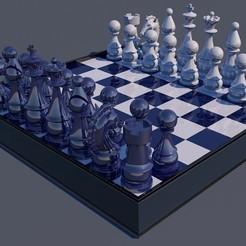 1.jpg Télécharger fichier OBJ Jeu d'échecs en 3D prêt à être imprimé • Modèle à imprimer en 3D, jd94