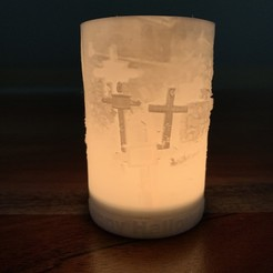 IMG_0387.jpg Download STL file Halloween tealight tombstone • 3D printable design, Create2Print