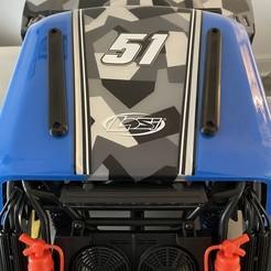 IMG_4910.JPG Download STL file Losi Super Baja Rey 2.0 Roof Skid Set | SBR Roof Protection • 3D print design, GaminGit