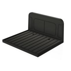 trx4 LR pickup 1 piece v11.png Télécharger fichier STL Conversion de la carrosserie de la camionnette Traxxas TRX4 Defender • Design pour imprimante 3D, GaminGit