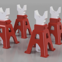 AXLE STAND v4.png Download STL file Axle Stand for Scale RC Crawler or Model (Prints without Support) • 3D print model, GaminGit