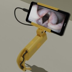 untitled2a.jpg Download STL file VIDEO LARYNGOSCOPE • 3D print design, Voxeldyf