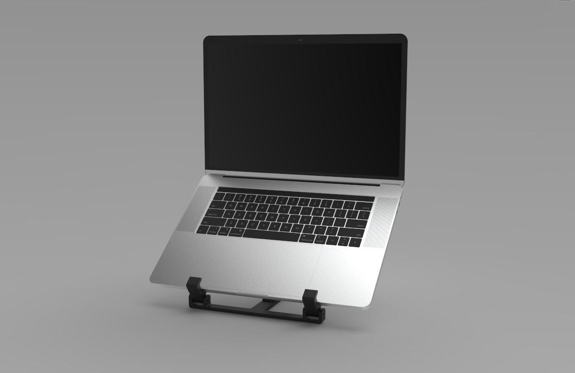 Laptophouder 5.jpg Download STL file Adjustable Laptop Stand • 3D printing object, R-Designs