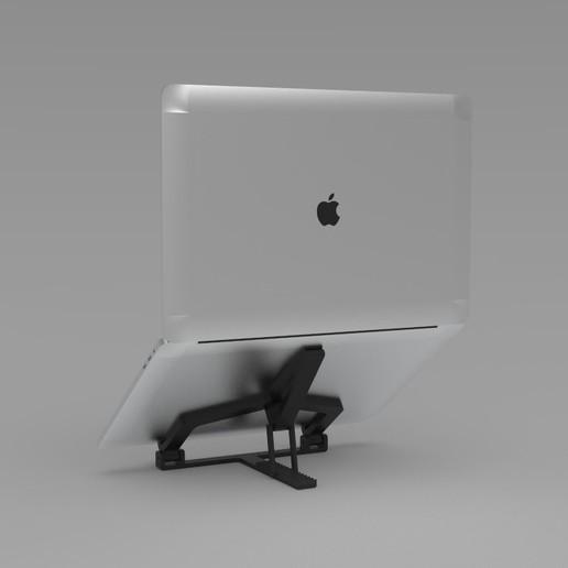 Laptophouder 6.jpg Download STL file Adjustable Laptop Stand • 3D printing object, R-Designs