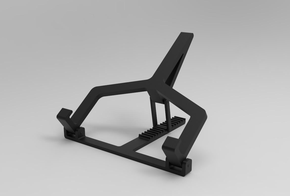 Laptophouder 1.jpg Download STL file Adjustable Laptop Stand • 3D printing object, R-Designs