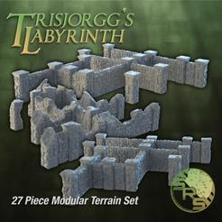 Stone Walls Full Group_00105.png Télécharger fichier STL Murs de pierre Terrain modulaire Ensemble complet • Objet pour imprimante 3D, SyncRatioSystems
