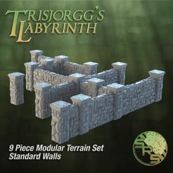 Stone Walls Normal Group Solo_00105.png Télécharger fichier STL Murs de pierre Ensemble de terrains modulaires • Plan pour impression 3D, SyncRatioSystems