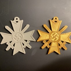 IMG_0343.jpg Download STL file WW2 German Nazi Knights Cross of the War Merit Cross With Swords Medal Award • 3D printable template, anonymous-1dcde162-cb7f-472e-be4c-70615a15a3e5