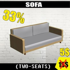 SOFA 5$.jpg Download OBJ file SOFA (EXTRA BUYING)(Textured)  *30%* • 3D print template, risterilm