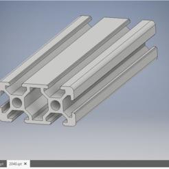 2040T6.PNG Download free STL file customizable 2040 T6 profile • 3D printable model, kamilrapior