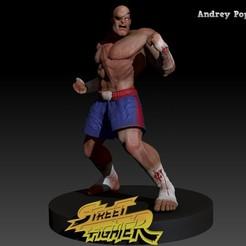 BPR_Composite sagat.jpg Download STL file Sagat street fighter • 3D printable design, andreypopov