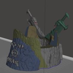 Captura de pantalla completa 1192020 090400.jpg Download STL file God of War Joystick Stand • 3D print object, zonageek3d