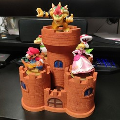 Download free STL file Bowser's Keep Amiibo Display Base • 3D print object, alrala
