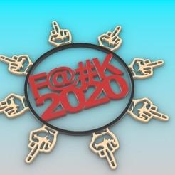 2.jpg Télécharger fichier STL F@#K 2020 • Plan pour impression 3D, Anonymous3Dnumerati