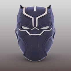 anonymous3DBlackpanther2.jpg Descargar archivo STL Black Panther Mask • Plan para imprimir en 3D, Anonymous3Dnumerati