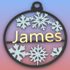 James.png Download STL file James ORNAMENT • 3D print model, Anonymous3Dnumerati