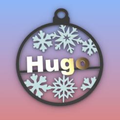 Hugo.png Download STL file Hugo Ornament • 3D printer template, Anonymous3Dnumerati