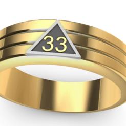 Screenshot_1.png Download STL file Mason Ring 33 • 3D printer object, Anonymous3Dnumerati