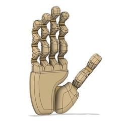 k3.jpg Download STL file robot hand, modular robotic hand • Template to 3D print, Bandy88