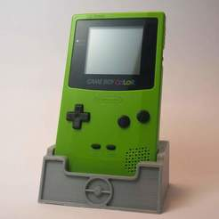 P1040754-min-min.JPG Download free STL file Game Boy Colour Stand • 3D printer design, Estikuma
