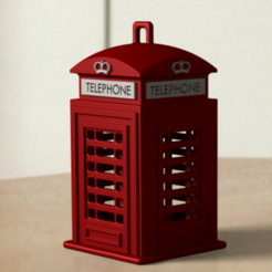 Capture ASSY - TELEPHONE DECOR - 3.PNG Download STL file STL TELETEPHONE_BOOTH TREE_DECORATION • Template to 3D print, violetakord