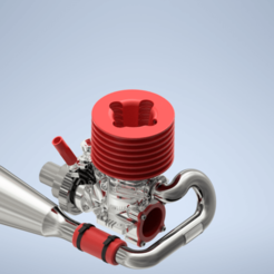 Engine Assembly1.png Download STL file RC Nitro Engine • 3D print object, harishodzic